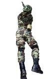 Soldat med anfallgeväret Arkivfoto