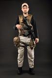 Soldat med geväret Royaltyfri Fotografi