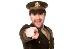 Soldat militaire vous signalant Photo libre de droits