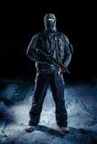 Soldat mit den Daumen oben Stockbilder