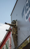 Soldat mit den Daumen oben Lizenzfreie Stockfotos