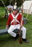 Soldat mit einem Gewehr Stockfoto