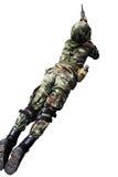 Soldat mit Sturmgewehr Stockfotos