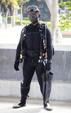 Soldat mit Tarnung stockfotos
