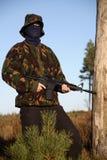Soldat mit Tarnung (Standplatz Lizenzfreies Stockfoto