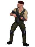 Soldat mit Waffe Lizenzfreies Stockfoto