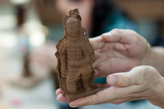 Soldat modèle de Terracota Photographie stock