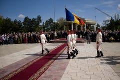 Soldat moldavien le jour de victoire images libres de droits