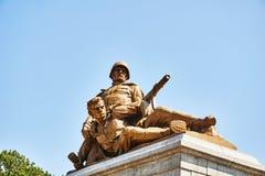 Soldat-Monument Stockbild