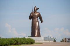 Soldat Monument dans Stavropol Photos stock
