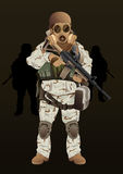 Soldat Navy Seal illustration libre de droits