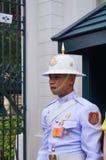 Soldat och styrkor i storslagen slott Arkivfoto