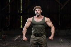 Soldat Portrait Of ein Mann Lizenzfreies Stockfoto
