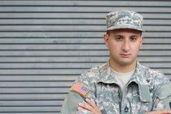 Soldat With PTSD des USA image libre de droits