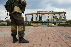 Soldat rebelle en Ukraine Photos libres de droits