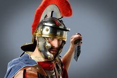 Soldat romain avec l'épée Photographie stock