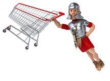 Soldat romain d'amusement illustration stock