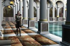 Soldat romain dans la maison de bain Image libre de droits