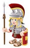 Soldat romain de dessin animé Photos libres de droits