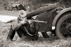 Soldat russe Photographie stock