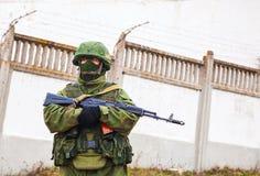 Soldat russe dans Perevalne, Crimée Images stock