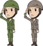 Soldat Salute Royaltyfri Foto