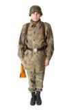 Soldat se tenant à l'attention photos libres de droits