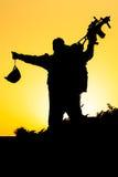 Soldat Silhouette Lizenzfreie Stockfotografie