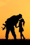 Soldat Silhouette Stockfotos