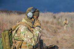Soldat sous forme de plans rapprochés Photographie stock