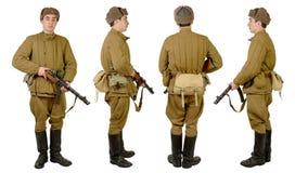 Soldat soviétique dans le wwii photos libres de droits