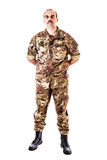 Soldat Stand Easy Royaltyfri Fotografi