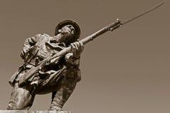 Soldat Statue för britt WW1 Arkivbilder