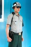 Soldat sud-coréen dans la salle de conférence, Panmunjom Photo libre de droits