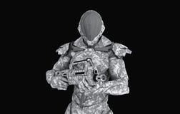 Soldat superbe avancé Photographie stock