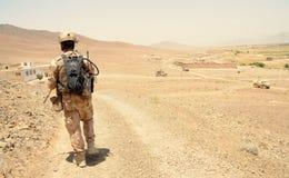 Soldat tchèque dans la province de Logar, Afghanistan