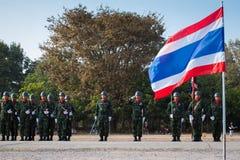 Soldat thaïlandais dans le jour de force armée thaïlandais royal 2014 Photographie stock libre de droits