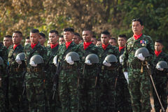 Soldat thaïlandais dans le jour de force armée thaïlandais royal 2014 Image libre de droits