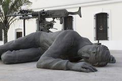 Soldat tombé Images libres de droits