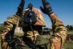 Soldat- und Behälter-Antrieb Lizenzfreies Stockbild