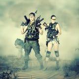 Soldat und Frau Stockbilder
