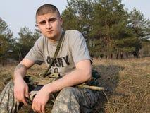 soldat USA Arkivbild