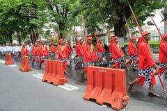 Soldat-Yogyakarta-Palast Stockfoto