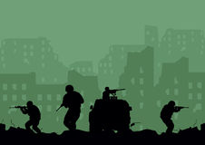 soldaten stock abbildung