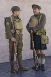 Soldaten britischer Armee WWI im Ruhezustand Stockfotografie