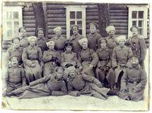 Soldaten der 2. Firma des 187. Infanterie-Reserve-Bataillons stockfotografie
