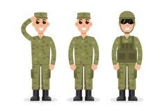 Soldaten der Mann-AMERIKANISCHEN Armee in der Tarnung vektor abbildung