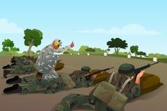 Soldaten in der militärischen Ausbildung stock abbildung