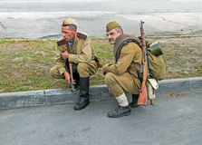 Soldaten der roten Armee Lizenzfreie Stockfotos