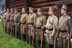 Soldaten der russischen Armee der erste Weltkrieg Lizenzfreies Stockbild